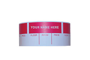 Custom Imprinted Labels available